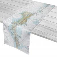 FL: Vaca Key Marathon, FL Nautical Chart Table Runner
