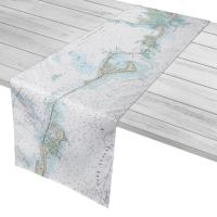 FL: Matecumbe to Grassy Key, FL Nautical Chart Table Runner