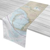 FL: Mexico Beach to Cape San Blas, FL Nautical Chart Table Runner