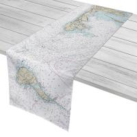 NY: Montauk, NY to Block Island, RI Nautical Chart Table Runner