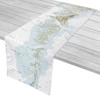 FL: Key Biscayne, FL Nautical Chart Table Runner