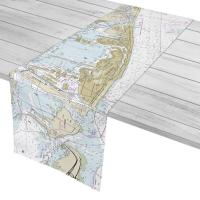 FL: Miami Beach, FL Nautical Chart Table Runner