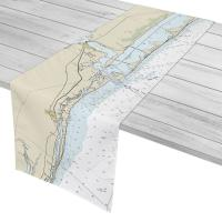 FL: Jensen Beach, Stuart, FL Nautical Chart Table Runner