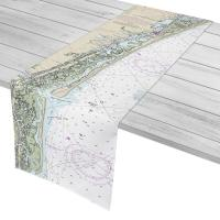 NC: Topsail Beach, NC Nautical Chart Table Runner