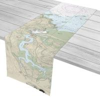 MA: Cohasset Harbor, MA Nautical Chart Table Runner