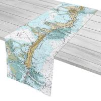 FL: Islamorada, FL Nautical Chart Table Runner