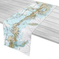 FL: Key Largo, Tavernier, FL Nautical Chart Table Runner