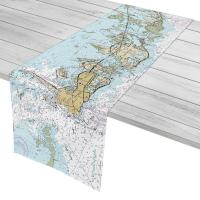 FL: Key West, Boca Chica, FL Nautical Chart Table Runner