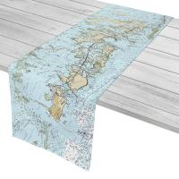 FL: Lower Florida Keys, Key West to Little Pine Key, FL Nautical Chart Table Runner