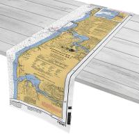 OR: Approaches to Yaquina Bay, OR Nautical Chart Table Runner