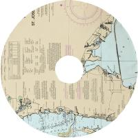 Crystal Beach, FL Nautical Chart Christmas Tree Skirt