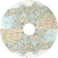 FL: Marco Island, FL Nautical Chart Christmas Tree Skirt