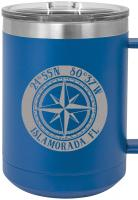 Custom Compass Rose 15oz Insulated Mug S/4
