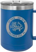 Custom Coral 15oz Insulated Mug S/4