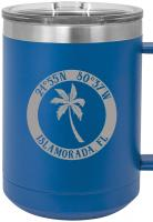 Custom Island Palm 15oz Insulated Mug S/4