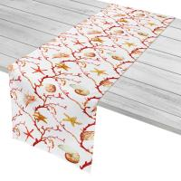 Coral Lattice Table Runner