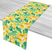 Plumeria Yellow Table Runner